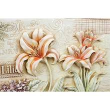 Beautiful 3D Flowers Wall Painting Print On Canvas For Home Decor Ideas Paints On Wall Pictures Art No framed Gift