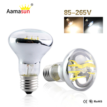 Newest E27 Led Filament Bulb Lamp AC110V 127V 220V 230V R63 PAR Light Real Power 4W 6W Edison Lights For Home Indoor Lighting