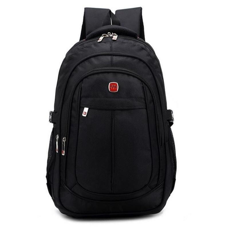 15 Inch Black Laptop Backpack Youth Brand Male Rucksack Waterproof Bagpack Swiss Students Orthopedic School Backpacks mochila<br><br>Aliexpress