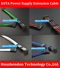 High Quality Refined Wire   30CM  Computer  Hard  Drive  Power  Extension  Cable   SATA Hard Disk Power Supply  Adapter  Cable