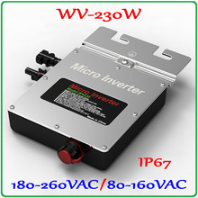 230W 22-50VDC Micro Grid Tie Inverter Pure Sine Wave Output for 200W-300W 30V 36V PV Solar Panel MPPT on grid inverter