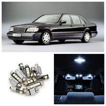 11pcs Canbus White Car LED Light Bulbs Interior Package Kit For 1991-1998 Mercedes Benz S-Class Map Dome Trunk Glove Box Lamp(China)