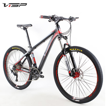 VISP New 26Inch&27.5Inch 30 Speed Aluminum Alloy Mountain Bike  Double Hydraulic Disc Brakes Collocation SHIMANO M610 Derailleur