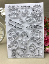 Small animal stamp Clear Stamp for Scrapbooking Transparent Silicone Rubber DIY Photo Album Decor(China)