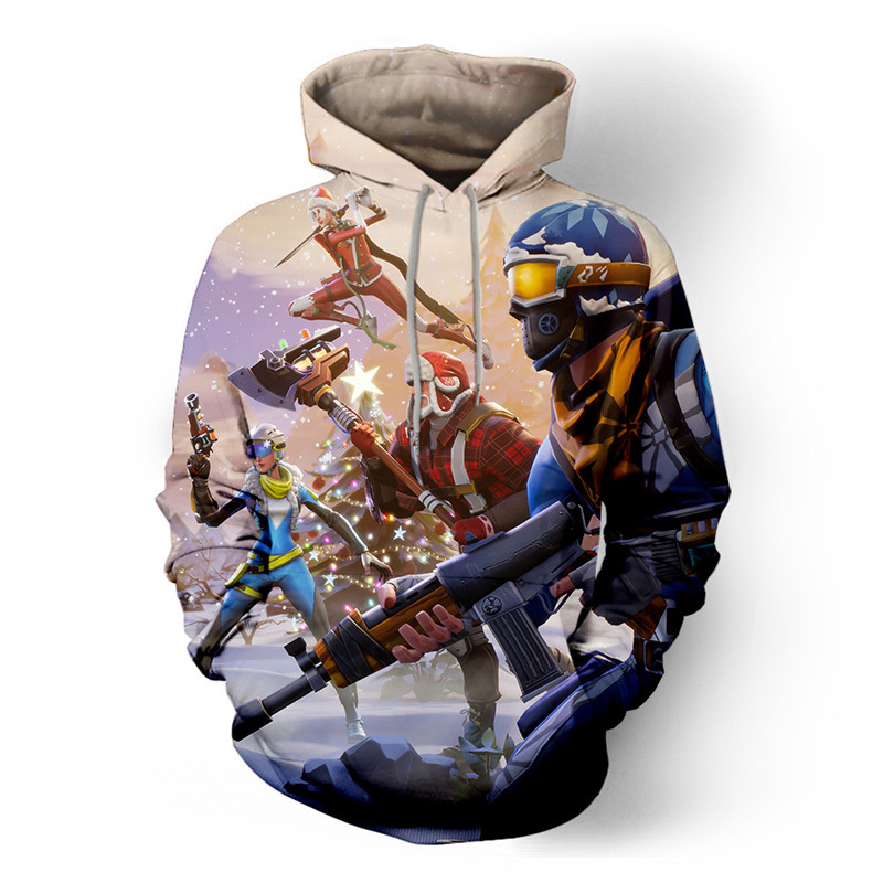 2019 Battle Royale And Fortnite Game 3d Hoodie Hoodies For Men