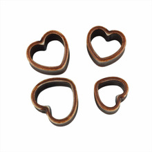 Ear expander Piercings 8-25MM Vintage Heart Ear Plug Stretcher Expander 1 Pair trendy fashion ear  piercings studs plugs