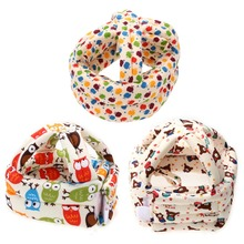 Baby Kids Adjustable Warm Cap No Bumps Safety Helmet Headguard Hats Soft Cotton Baby Care Cap Baby Safety Accessory(China)