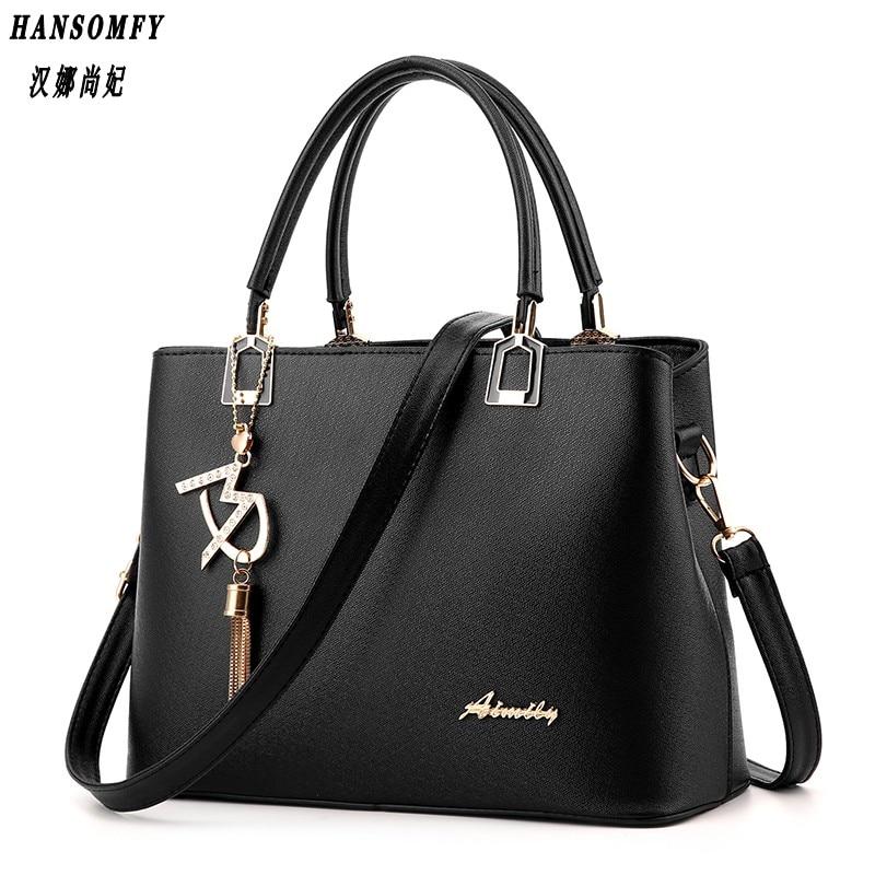 Han 100% Genuine leather Women Handbags 2017 New Fashion dbag Crossbody Handbag Shoulder Bag package portable shoulder bag women<br>