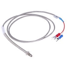 1m High Temperature Cable PT100 k type Thermocouple RTD with 6mm Thread Thermometer -45 to 500 degree Sensor Probe NG4S