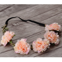 Newly Design Beauty Flower Headbands Women Wreath Wedding Floral Garland For Girl Hair Band Casual Female Bloom Hair Accessories(China)