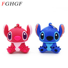 FGHGF Creative Cartoon stitch USB Flash drive Genuine pendrive 4GB 8GB usb 2.0 Memory Stick Pen Drive u disk(China)