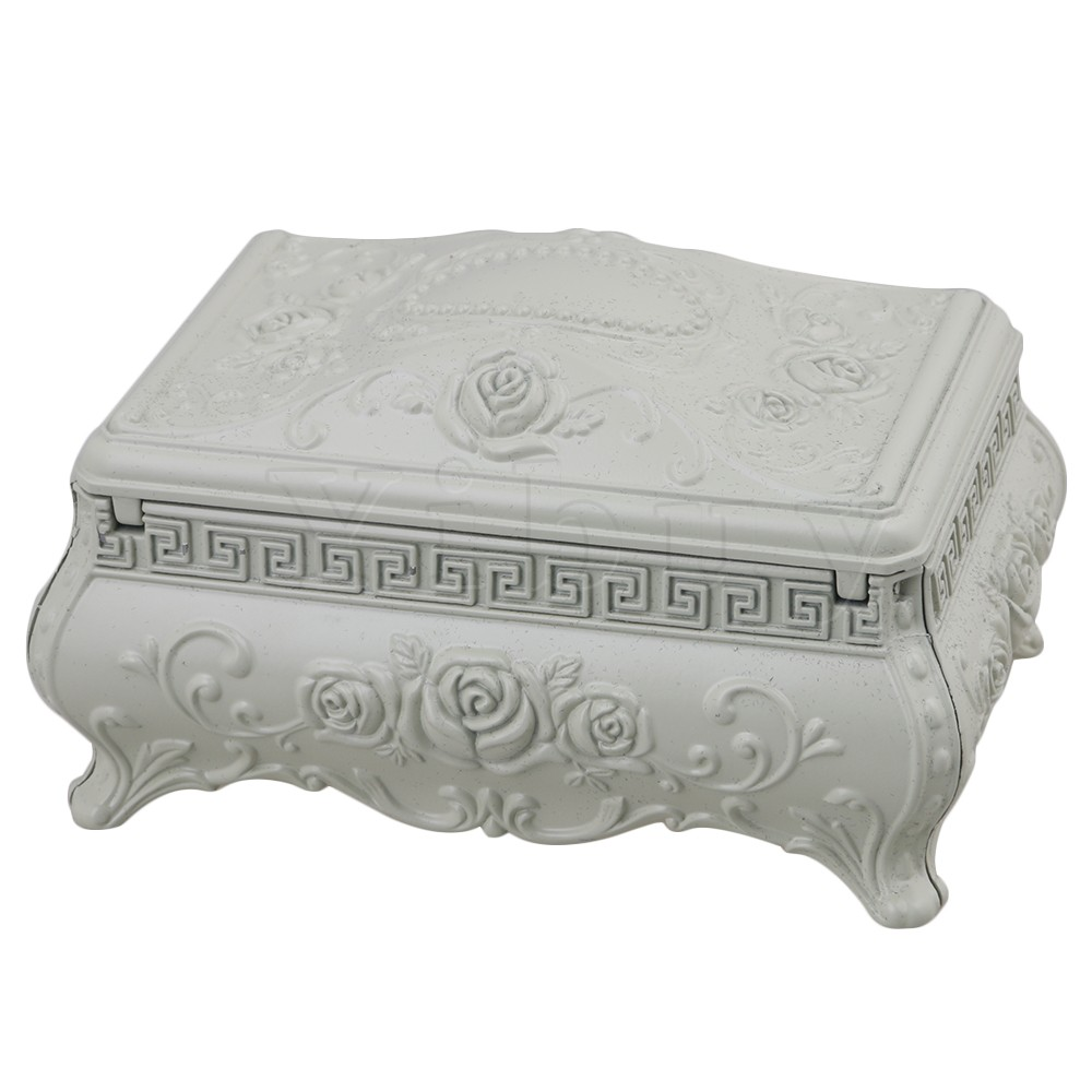 Yibuy 13x8.5x7.5cm Alloy Vintage Relief European Sofa Shape Movement for Birthday Gift Musical Toy <br>