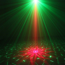 Professional Remote Aurora LED Laser Stage Light Projector R&G Blue Party DJ Disco Club Xmas  --M25