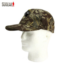 Outdoor Sports LED Glowing Illumination Baseball Cap Military Camouflage Fishing Camping Night Utility Adjustable Light Chapeau