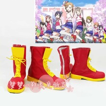 Love Live! Honoka Kotori Umi Eli Nozomi Maki Rin Hanayo Nico happpy maker cheerleading cos boots Cosplay Shoes Custom-made