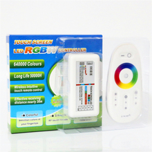 2016 New Arrival DC12-24V LED RGBW Controller + 2.4G RF Touch Screen Remote Controller for 5050 3528 RGB RGBW Flexible LED Strip(China)