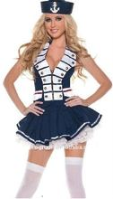 FREE SHIPPING 84636 LADIES SEXY SAILOR FANCY DRESS COSTUME OUTFIT NAVY UNIFORM HEN PARTY HALLOWEEN fancy dress S,M,L,XL,2XL(China)