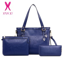 YANXI Famous Luxury Brand Fashion Lady Tote Shoulder Messenger Bag Blue Women Quality Composite Bag Designer Purse And Handbags