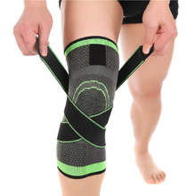1pcs Sports 3D Weaving Knee Protector Breathable Sleeve Elastic Knee Brace Support Sports Adjustable Bandage for Running Jogging(China)
