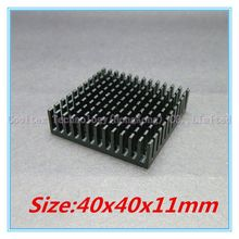 (2pcs/lot) 100% new 40x40x11mm Aluminum heatsink Extruded black  radiator heat sink for Electronic heat dissipation
