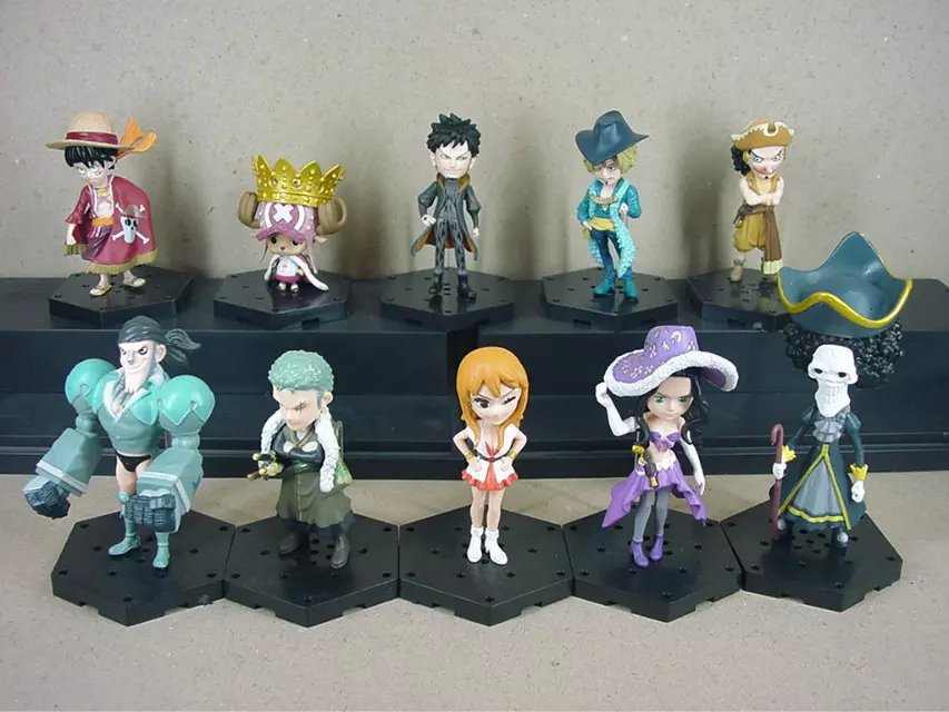 Japan One Piece PVC Action Figure Keychain Doll Toy 10cm high with base two types 10 pieces one set hot sale 2017 models toys<br><br>Aliexpress
