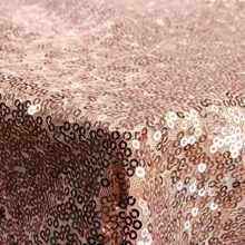 127*127cm Shimmer Fabric Tablecloth Sparkly Shiny Rose Gold Sequin Tablecloth For Wedding/Event/Banquet Decoration