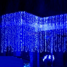 CE ROHS 600LEDS 6M * 3M LED curtain lights string Christmas Garden lamp LED Icicle Lights For Xmas Wedding Party Decoration