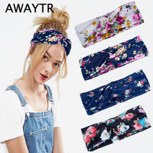AWAYTR 2017 New Arrival Autumn Winter Headband for Women Fashion Headwear Wide  Flower Headbands Turban Twisted Hairband