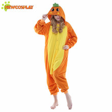 Newcosplay Carrot Cosplay Costume Cute Sleepwear Onesies Pajamas Unicorn Halloween Costumes For Women Unisex Pajama Set(China)