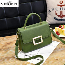 YINGPEI Green Fashional Colors 2017 Women PU Leather Handbags For Teenager Girl Fashion Female Messenger  Luxury Ladies Bags