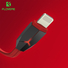FLOVEME iPhone Cable 5V/2.1A Breathing LED 1m Lighting USB Apple 7 6 6s 5s iPad Data Sync Charging Cabo - Official Flagship Store store