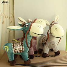 1Pcs 25CM Cute Little Donkey Doll Toy Pony Donkey Plush Toys Car Pillow Cushions Girlfriend Children's Toys Gift(China)