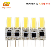 [MingBen] 5pcs G4 LED Bulb 3W 12V DC 220V AC LED COB Bulb Replace Halogen Lamp High Bright For Chandelier Warm white Cold White(China)