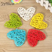 KiWarm 5PCS New Arrival Heart Shape Sepak Takraw For Christmas Birthday Party Home Wedding Party Hanging Decoration Rattan Ball(China)