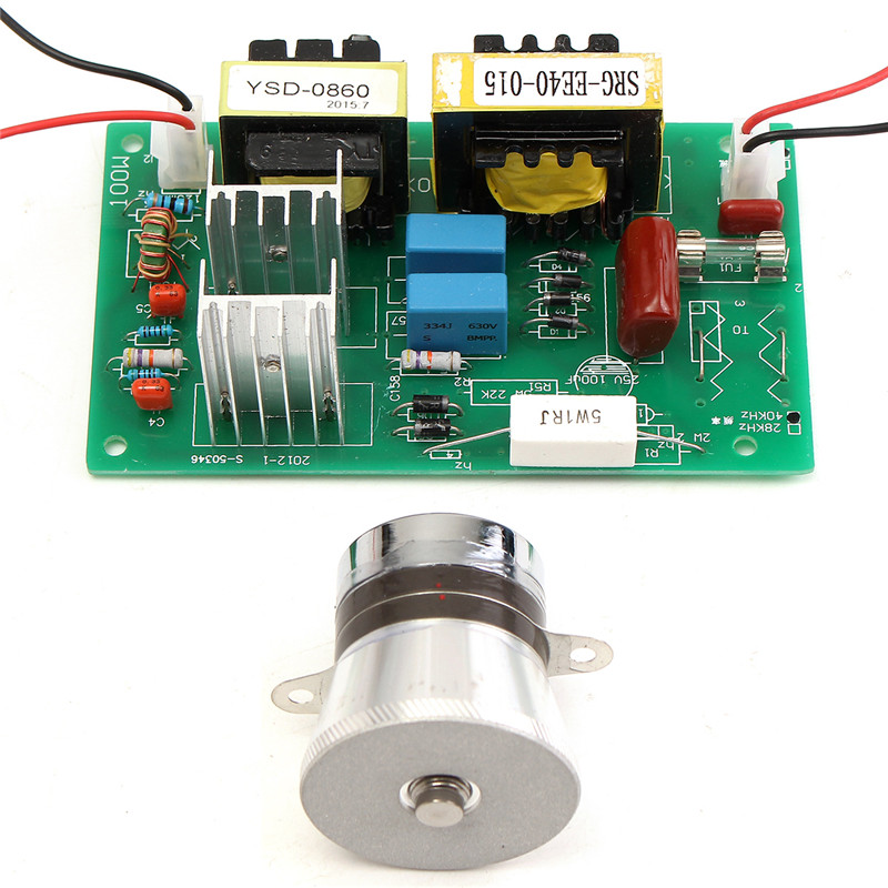 50W 40KHz Ultrasonic Cleaning Transducer Cleaner +Power Driver Board 110VAC For Ultrasonic Cleaning Machines Integrated Circuit<br>