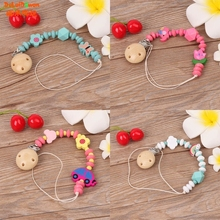 Buy Nipple Holder Wooden Beaded Baby Pacifier Clip Chain Nipple Leash Strap Pacifier Clips Soother Chain Dummy Clips for $1.13 in AliExpress store