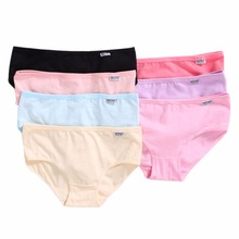 Buy Womens Girls XL Plus Size Underwear Breathable Candy Color Solid Briefs Panties Comfortable Cotton Blend Underpants Knickers