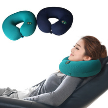 Hot Sell 1pc Portable Neck Rest Massager U Shape Electric Nap Pillow Massage for Home Office Train Plane Traveling HB88(China)