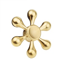 Six Arm fidget spinner EDC Hand Spinner Focus Anti Stress Adult Gifts Metal Hand fidget spinner Toys Gold(China)