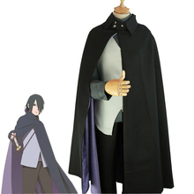 Anime Boruto Naruto The Movie Uchiha Sasuke Cosplay Costume Full Set Halloween Uniform ( Cloak + Vest + Shirt + Pants )(China)