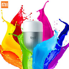 XiaoMi Colorful White Remote Control Smart LED Light RGB 9W 6.5W E27 Led Night Light Bulbs Colorful Temperature Romantic Lamp(China)