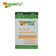 BIKAITO 1580mah Phone Replacement Battery BL-5J For Nokia 5800 Xpress Music N900 5230 Nuron X6 C3 5233 5228 5235 Rechargeable