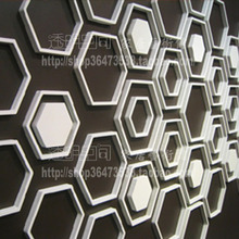 Three-dimensional wall stickers hexagon white Large 8 in 1 set , color customized sticker(China)