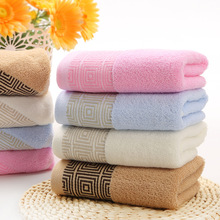 1pc Hot Sale Hand Towel Cotton Towels Solid Embroidered Face Washcloths Towel Gift Toalha Breathable Bathroom Towels 34*75cm(China)