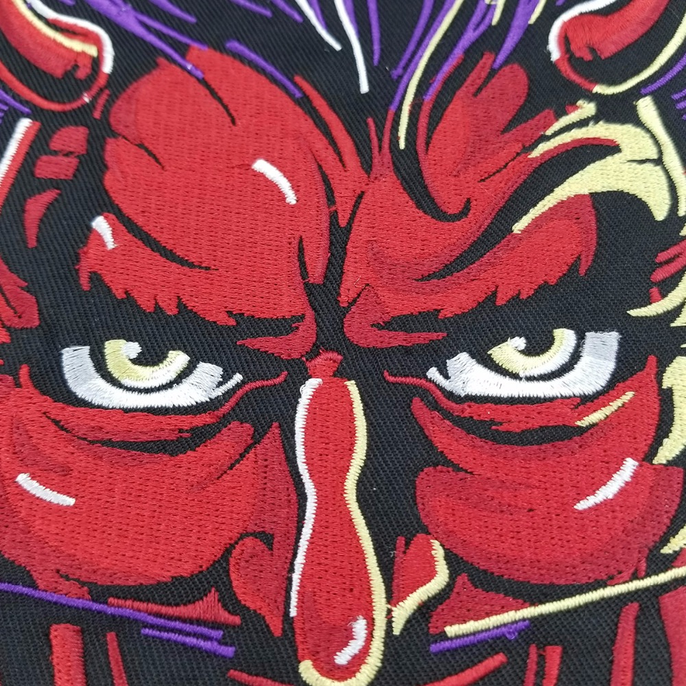 RED DEVIL PATCH vest back motorcycle patch embroidery iron-on cool jacket biker mini patches (4)