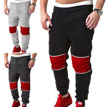 Fashion Men Boy Baggy Joggers Casual Trousers Casual Patchwork Rope Pants Harem Dance Long Cargo Pant(China)