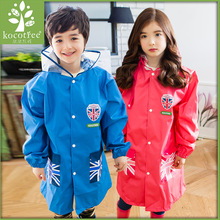 High Quality Kids Rain Coat Children Rainwear Funny Fashion Cambridge Waterproof  Rainsuit Transparent Big Brim Cloak Raincoat