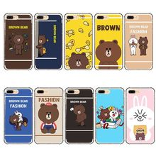 Fashion Brown Bear Case Back Cover Soft TPU Silicon Phone Cases for iPhone 5 5S SE 6 6S 6Plus 7 8 Plus 8Plus X(China)