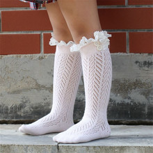 Children 's Leg Warms   Crochet Knitted Button Lace Leg Warmers Trim Boot Cuffs Socks  Children Socks