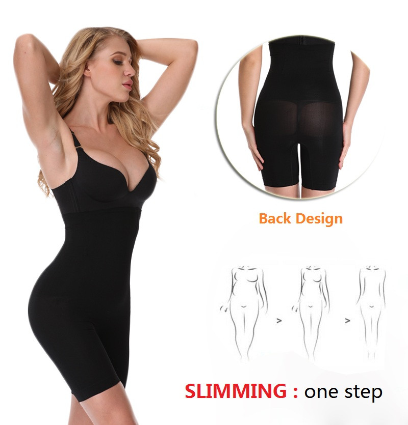 NINGMI Slimming Pants Women High Waist Trainer Tummy Control Panties Thigh Butt Lifter Slim Leg Hot Body Shaper Firm Power Short 2